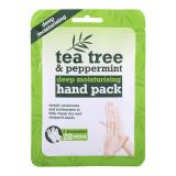 Xpel Tea Tree Tea Tree & Peppermint Deep Moisturising Hand Pack Хидратиращи ръкавици за жени 1 бр