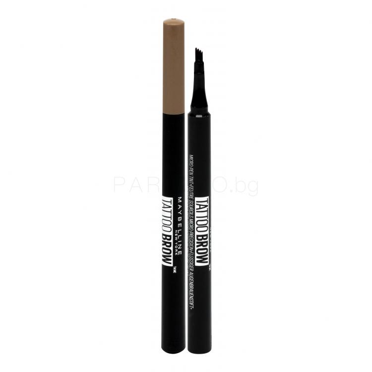 Maybelline Brow Tattoo Micro-Pen Tint Гел и помада за вежди за жени 1,1 ml Нюанс 120 Medium Brown