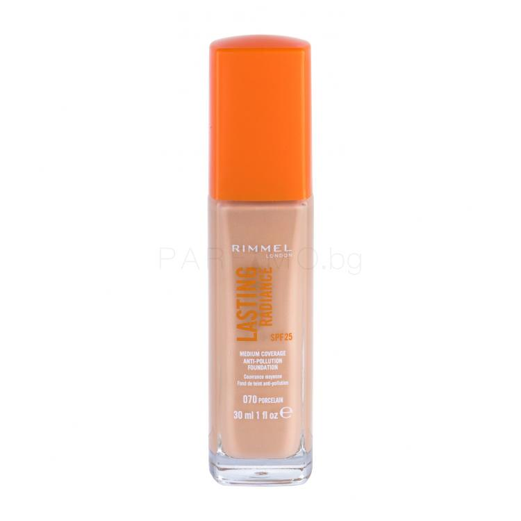 Rimmel London Lasting Radiance SPF25 Грим за жени 30 ml Нюанс 070 Porcelain