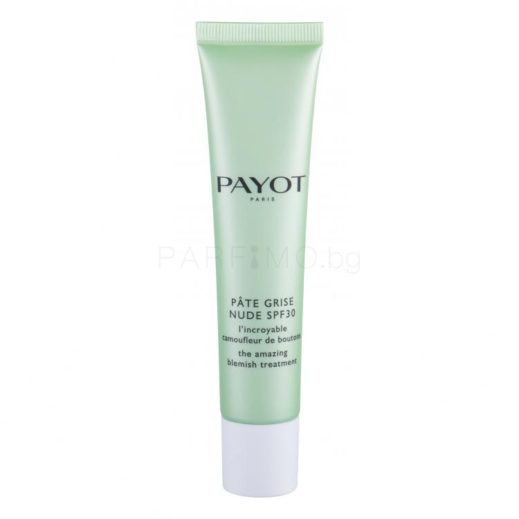 PAYOT Pâte Grise The Amazing Blemish Treatment SPF30 Коректор за жени 40 ml Нюанс Nude