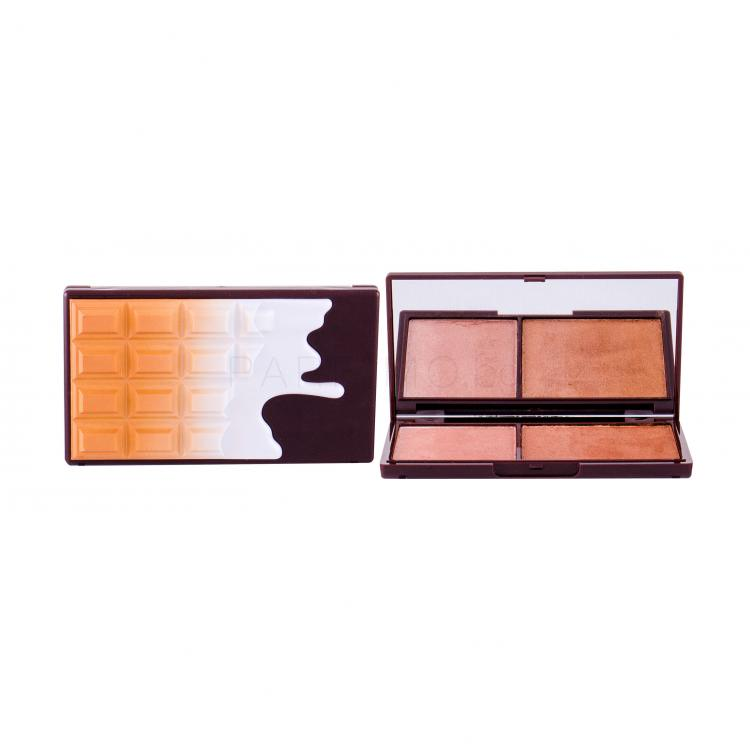 Makeup Revolution London I Heart Makeup Chocolate Duo Palette Бронзант за жени 11 гр Нюанс Bronze And Shimmer