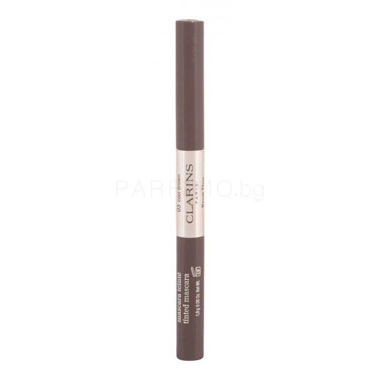 Clarins Brow Duo Спирала за вежди за жени 2,8g гр Нюанс 03 Cool Brown