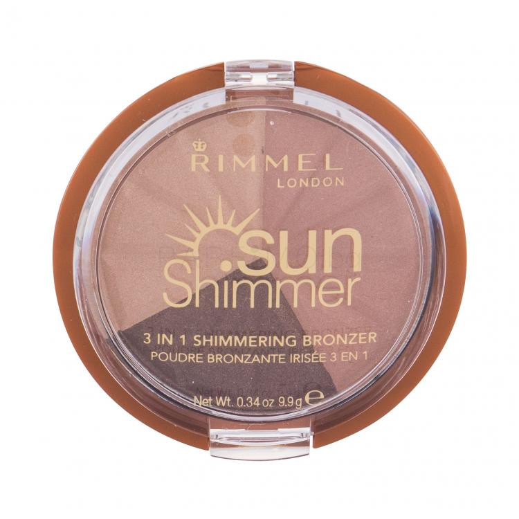 Rimmel London Sun Shimmer 3in1 Бронзанти за жени