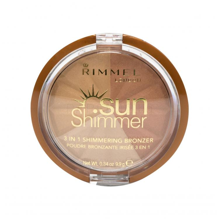 Rimmel London Sun Shimmer 3in1 Бронзант за жени 9,9 гр Нюанс 001 Gold Princess