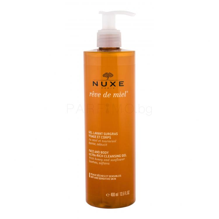 NUXE Rêve de Miel Face And Body Ultra-Rich Cleansing Gel Душ гел за жени 400 ml