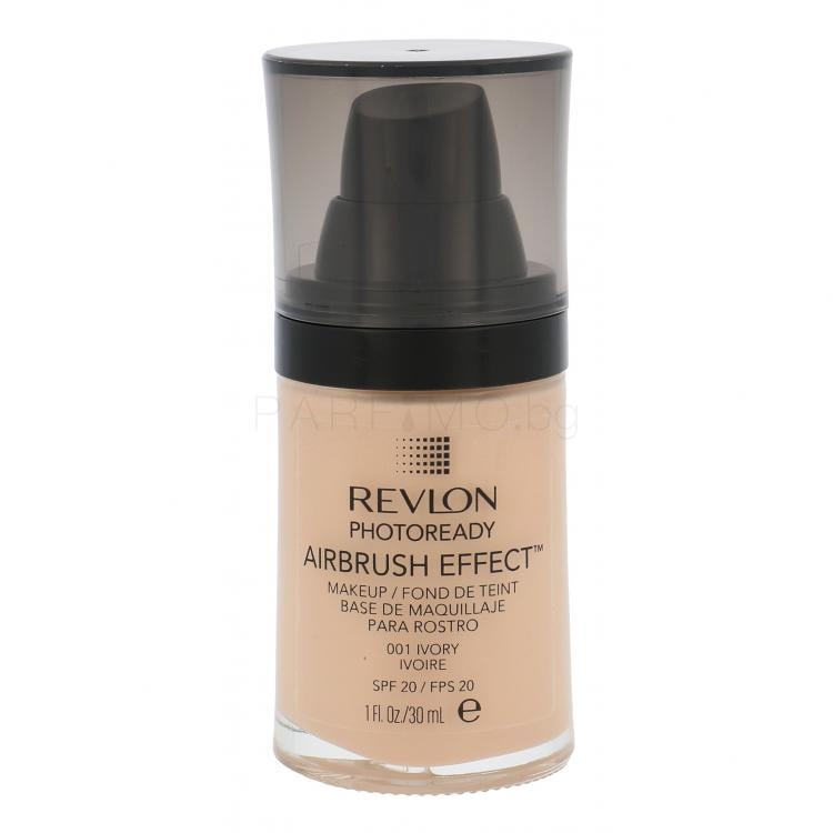 Revlon Photoready Airbrush Effect SPF20 Грим за жени 30 ml Нюанс 001 Ivory