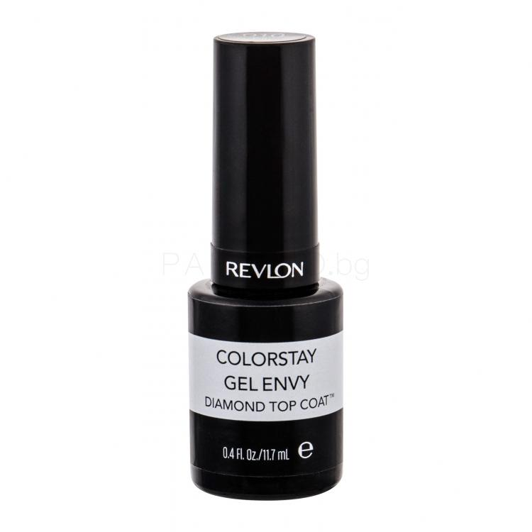 Revlon Colorstay Gel Envy Diamond Top Coat Лак за нокти за жени 11,7 ml Нюанс 010 Top Coat
