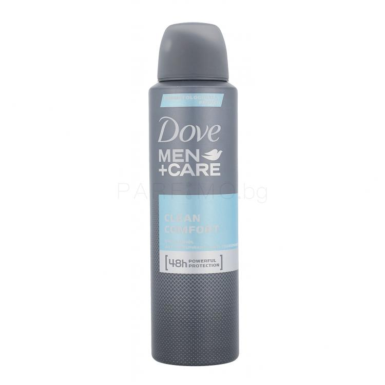Dove Men + Care Clean Comfort 48h Антиперспирант за мъже 150 ml