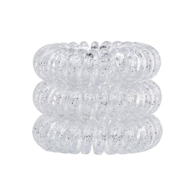 Invisibobble The Traceless Hair Ring Ластик за коса за жени 3 бр Нюанс Sparkling Clear