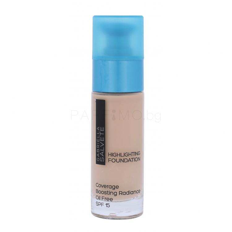 Gabriella Salvete Highlighting Foundation SPF15 Грим за жени 30 ml Нюанс 101 Classic Ivory