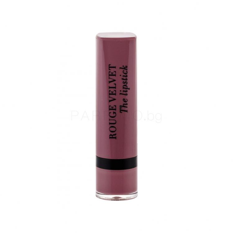BOURJOIS Paris Rouge Velvet The Lipstick Червило за жени 2,4 гр Нюанс 17 From Paris With Mauve