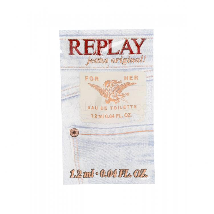 Replay Jeans Original! For Her Eau de Toilette за жени 1,2 ml мостра