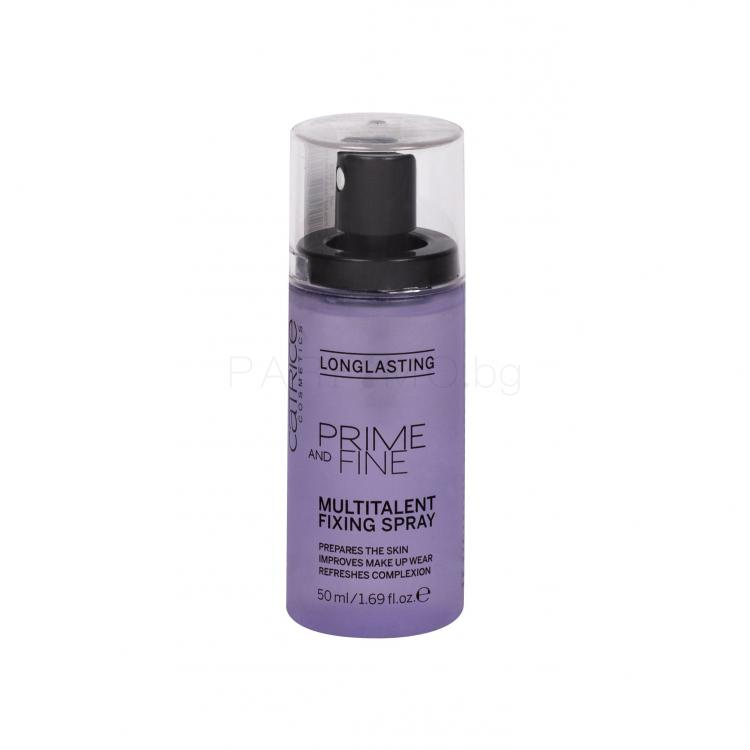 Catrice Prime And Fine Multitalent Fixing Spray Фиксатор за грим за жени 50 ml