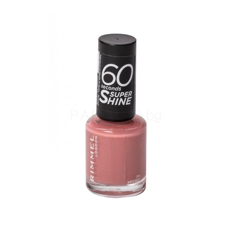 Rimmel London 60 Seconds Super Shine Лак за нокти за жени 8 ml Нюанс 711 Xposed