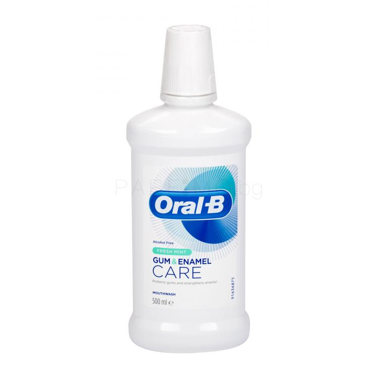 Oral-B Gum & Enamel Care Fresh Mint Вода за уста 500 ml