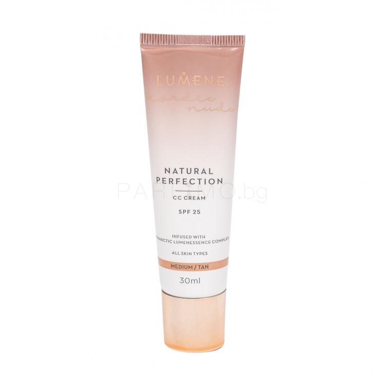 Lumene Nordic Nude Natural Perfection SPF25 CC крем за жени 30 ml Нюанс Medium/Tan