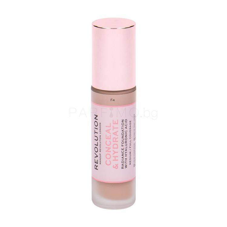 Makeup Revolution London Conceal & Hydrate Грим за жени 23 ml Нюанс F4