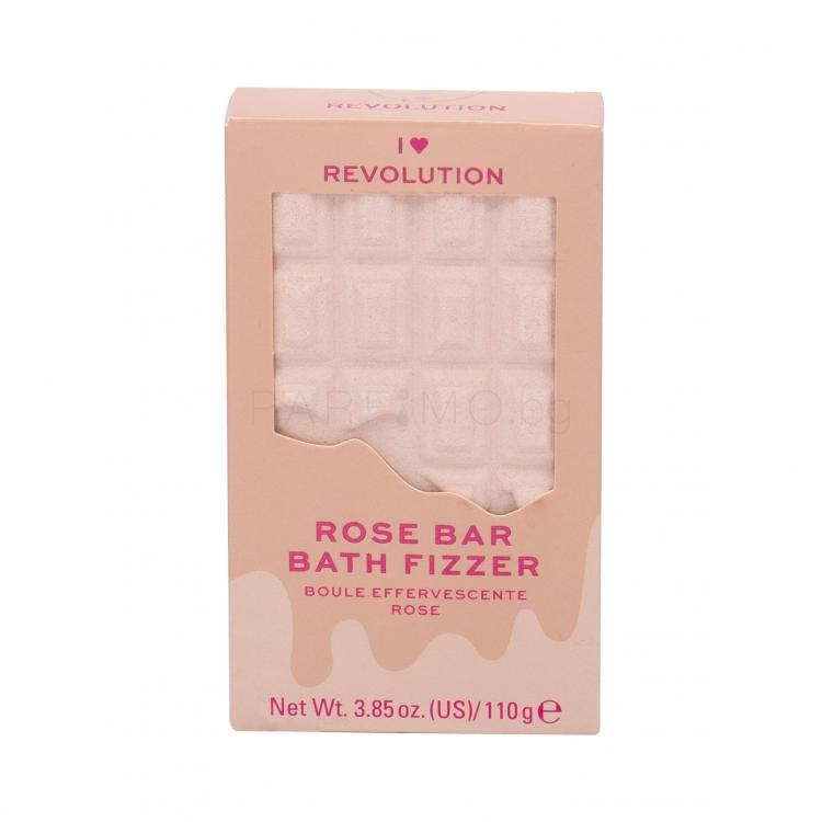 Makeup Revolution London I Heart Revolution Chocolate Bar Bath Fizzer Пяна за вана за жени 110 гр Нюанс Rose