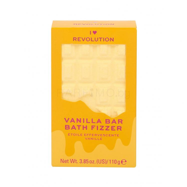 Makeup Revolution London I Heart Revolution Chocolate Bar Bath Fizzer Пяна за вана за жени 110 гр Нюанс Vanilla