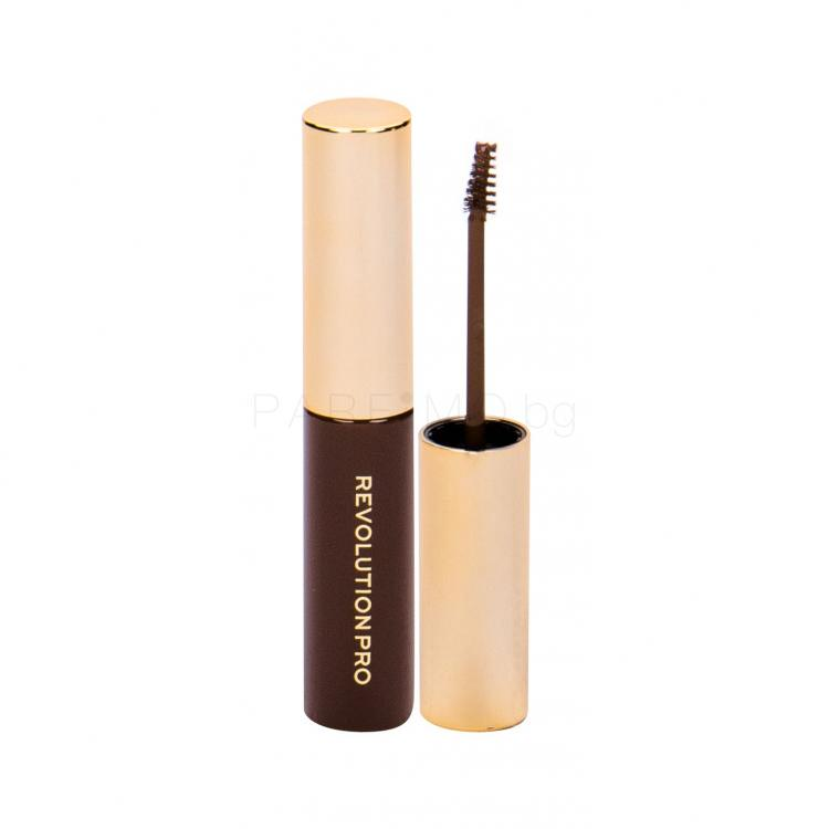 Makeup Revolution London Revolution PRO Brow Volume And Sculpt Gel Гел и помада за вежди за жени 6 ml Нюанс Ash Brown