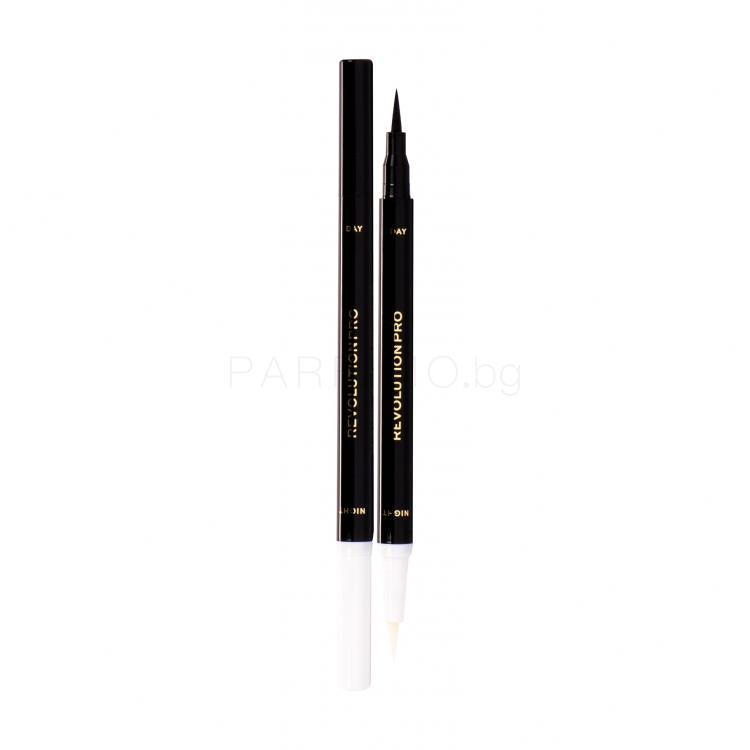 Makeup Revolution London Revolution PRO Day & Night Lash Pen Очна линия за жени 1,6 ml Нюанс Black